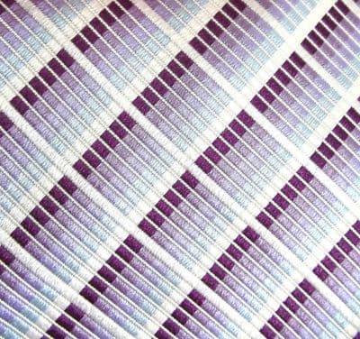Silk House tie woven check design in purple tones Pure silk